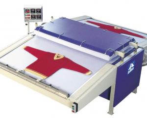 Е02 ALBA гладильный пресс для вязанных изделий с конвейерной транспортировкой