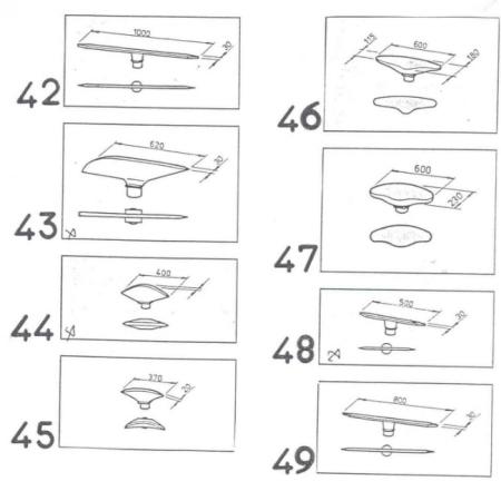 Формы подушек и столов 42-49