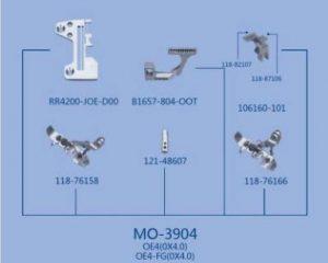 MO-3904 OE4(0x4.0), OE4-FG(0x4.0) JUKI сменный комплект