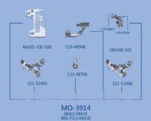 MO-3914 BE6 (2.0×4.0), BE6-FG(2.0×4.0) JUKI сменный комплект