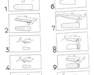 Формы подушек и столов 1-10