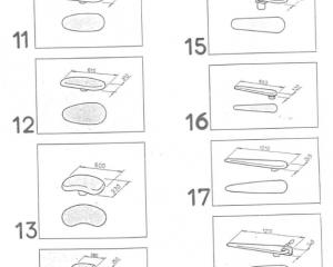 Формы подушек и столов 11-18